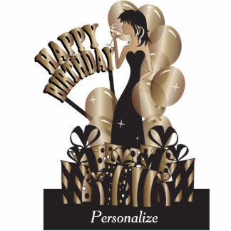 Happy Birthday Diva Girl | DIY Name | Bronze Statuette