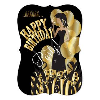 Happy Birthday Diva Girl   DIY Name   Gold Card