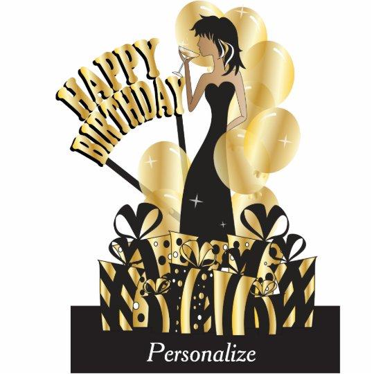 Happy Birthday Diva Girl Diy Name Gold Statuette