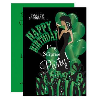 Happy Birthday Diva Girl | DIY Name | Green Card