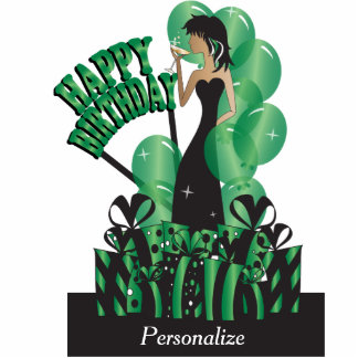 Happy Birthday Diva Girl | DIY Name | Green Cutout
