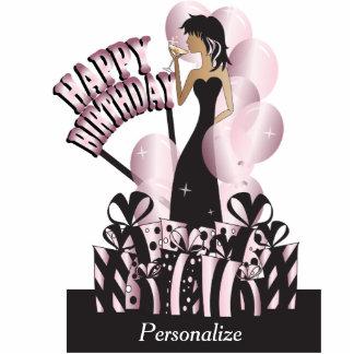 Happy Birthday Diva Girl | DIY Name | Pink Cutout