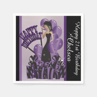 Happy Birthday Diva Girl | DIY Name | Purple Napkin
