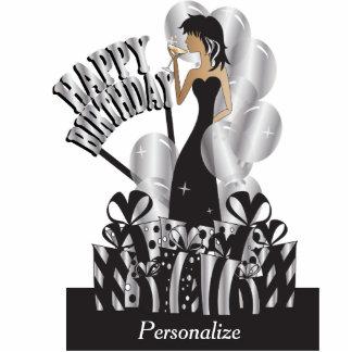 Happy Birthday Diva Girl | DIY Name | Silver Cutout