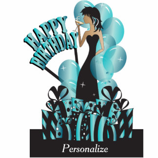 Happy Birthday Diva Girl | DIY Name | Turquoise Cutout