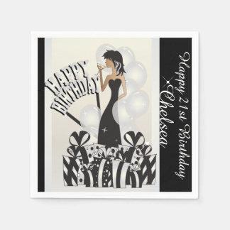Happy Birthday Diva Girl   DIY Name   White Napkin