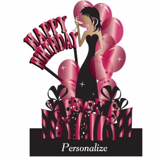 Cake Art Divas : Happy Birthday Diva Party Girl - Ruby Photo Cutouts Zazzle