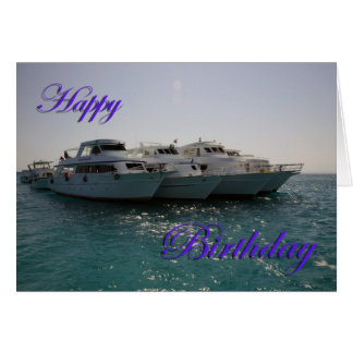 Happy Birthday Dive Boats Cards