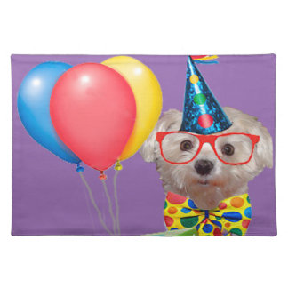 Happy Birthday Dog Cloth Placemat