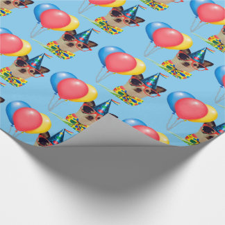 Happy Birthday Dog in the Hat Wrapping Paper