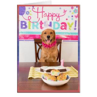 Happy Birthday Dog Party with My Dawg Card