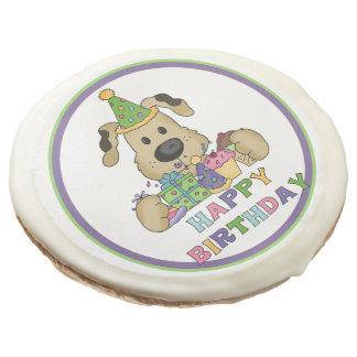 Happy Birthday Dog Sugar Cookie