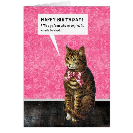HAPPY BIRTHDAY Dog Years Dead Card – Happy Birthday Dog Card