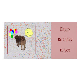 Happy Birthday - Dogs singing Card
