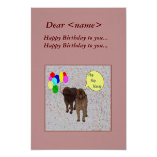 Happy Birthday - Dogs singing Poster