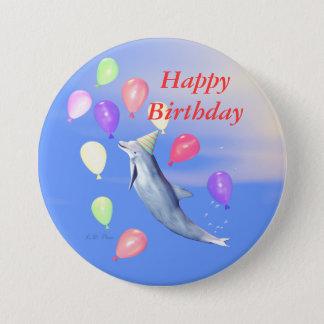 Happy Birthday Dolphin Button