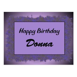 Happy Birthday Donna Postcard