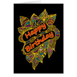 Happy Birthday Doodle Greeting Cards
