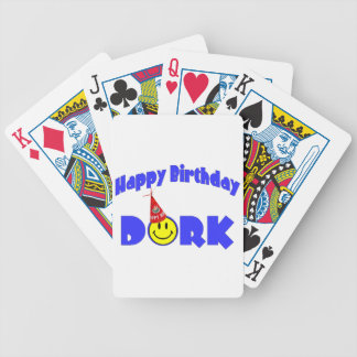 Happy Birthday Dork Party Hat Bicycle Playing Cards