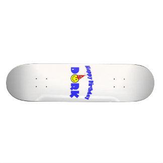 Happy Birthday Dork Party Hat Custom Skate Board