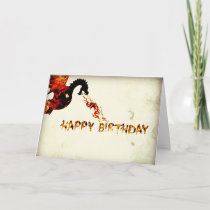 Happy Birthday Dragon Card