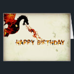 """Happy Birthday Dragon Card<br><div class=""""desc"""">This is by far the most simple design I have. I like to think of it as understated yet different. Perfect for that person in your life that says that don&#39;t believe in such nonsense but you know deep down they yearn to play dungeons and dragons. Personalize it with a...</div>"""