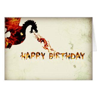 Happy Birthday Dragon Card