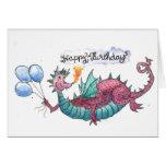 Happy Birthday Dragon Card Greeting Card