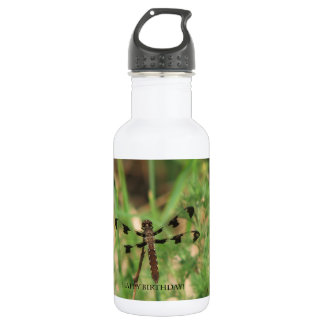 Happy Birthday Dragon Fly Water Bottle