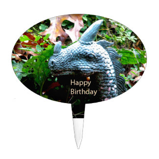 Happy Birthday Dragon Serpent Cake Toppers