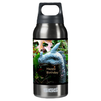 Happy Birthday Dragon Serpent Insulated Water Bottle