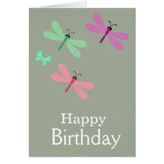 Happy Birthday Dragonflies Card