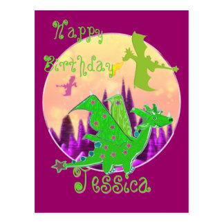 Happy Birthday Dragons Postcard
