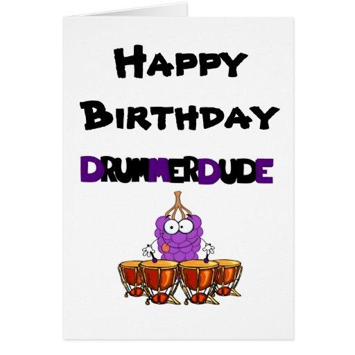 happy birthday drummer dude cards zazzle