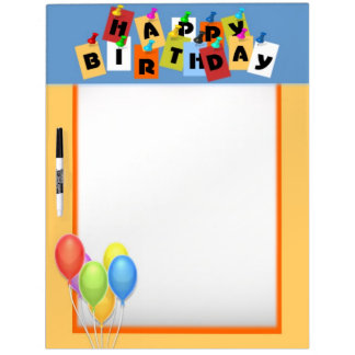 Happy Birthday Dry Erase Board