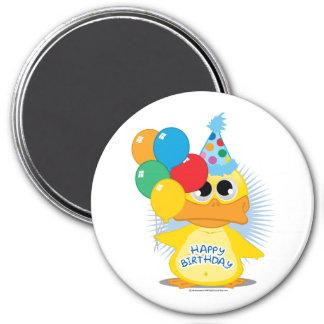 Happy Birthday Duck 3 Inch Round Magnet