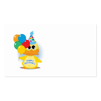 Happy Birthday Duck Business Card