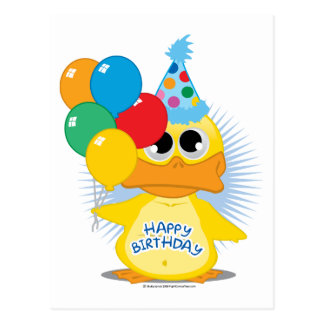 Happy Birthday Duck Postcard