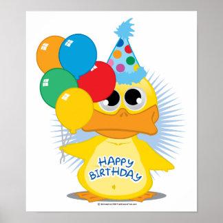 Happy Birthday Duck Poster