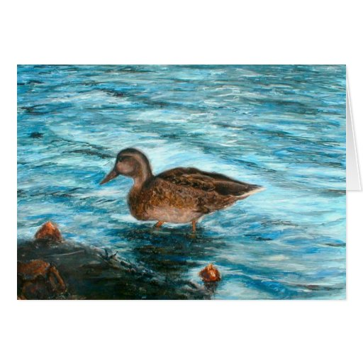 Happy Birthday Duck Walking Greeting Card