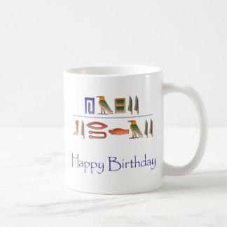 Happy Birthday Egyptian Hieroglyphics Coffee Mug