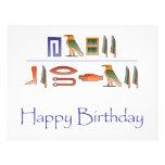 Happy Birthday Egyptian Hieroglyphics Flyers