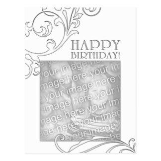 happy birthday (elegant flourish) postcard