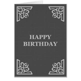 happy birthday (elegantGreys) Card