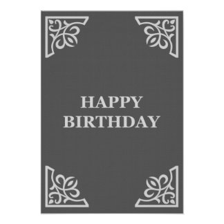 happy birthday (elegantGreys) Card