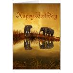 Happy Birthday Elephants Card