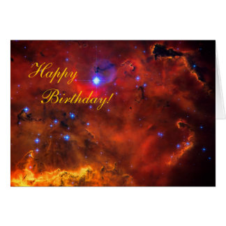 Happy Birthday - Emission Nebula in Puppis Greeting Card