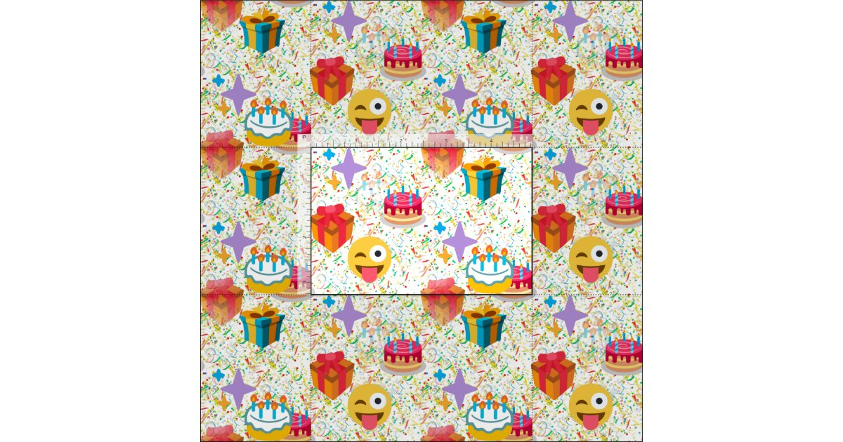Happy birthday emoji fabric zazzle for Emoji fabric
