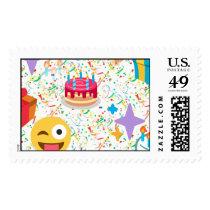 happy birthday emoji postage
