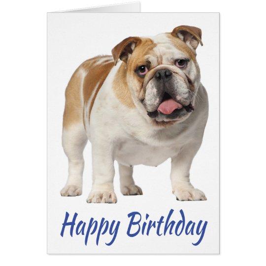 Happy Birthday English Bulldog Puppy Dog Card – Happy Birthday Dog Card